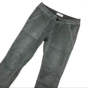 Free People, Gray Skinny Moto Pants Sz 28 EUC